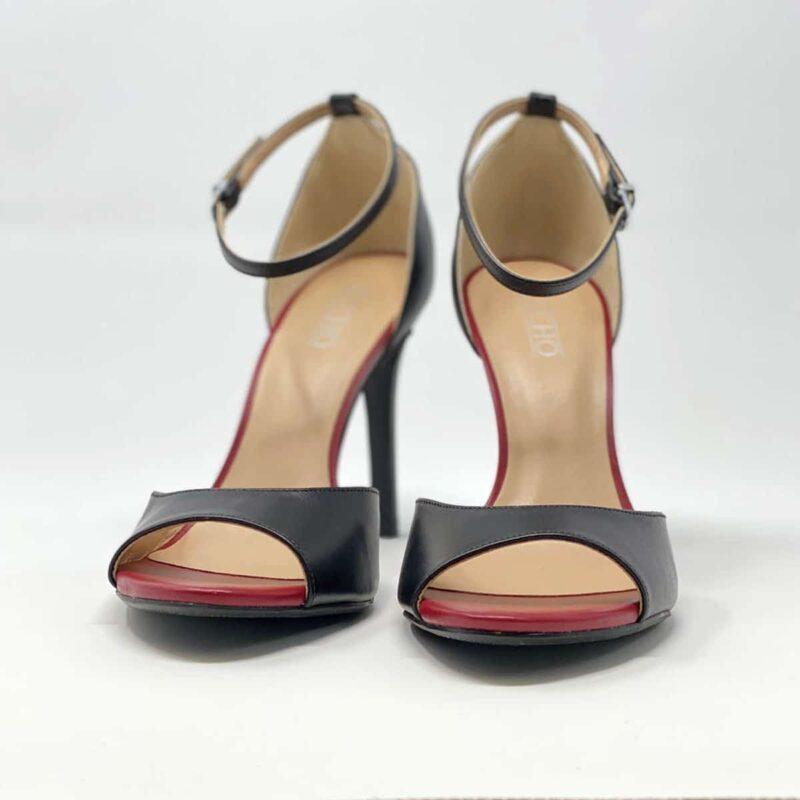 Black Napa Leather Sandal