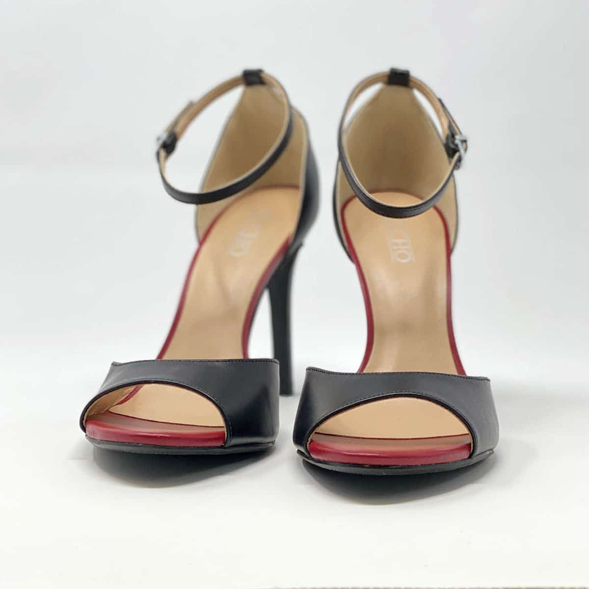 Black Napa Leather Sandal
