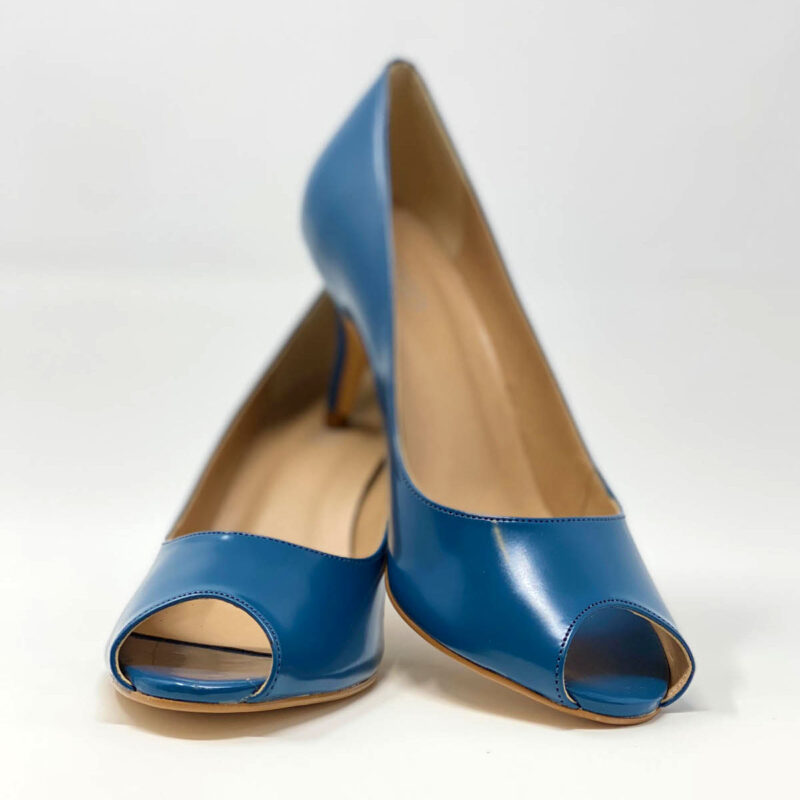 Indigo Blue Napa Kitten Heel 1