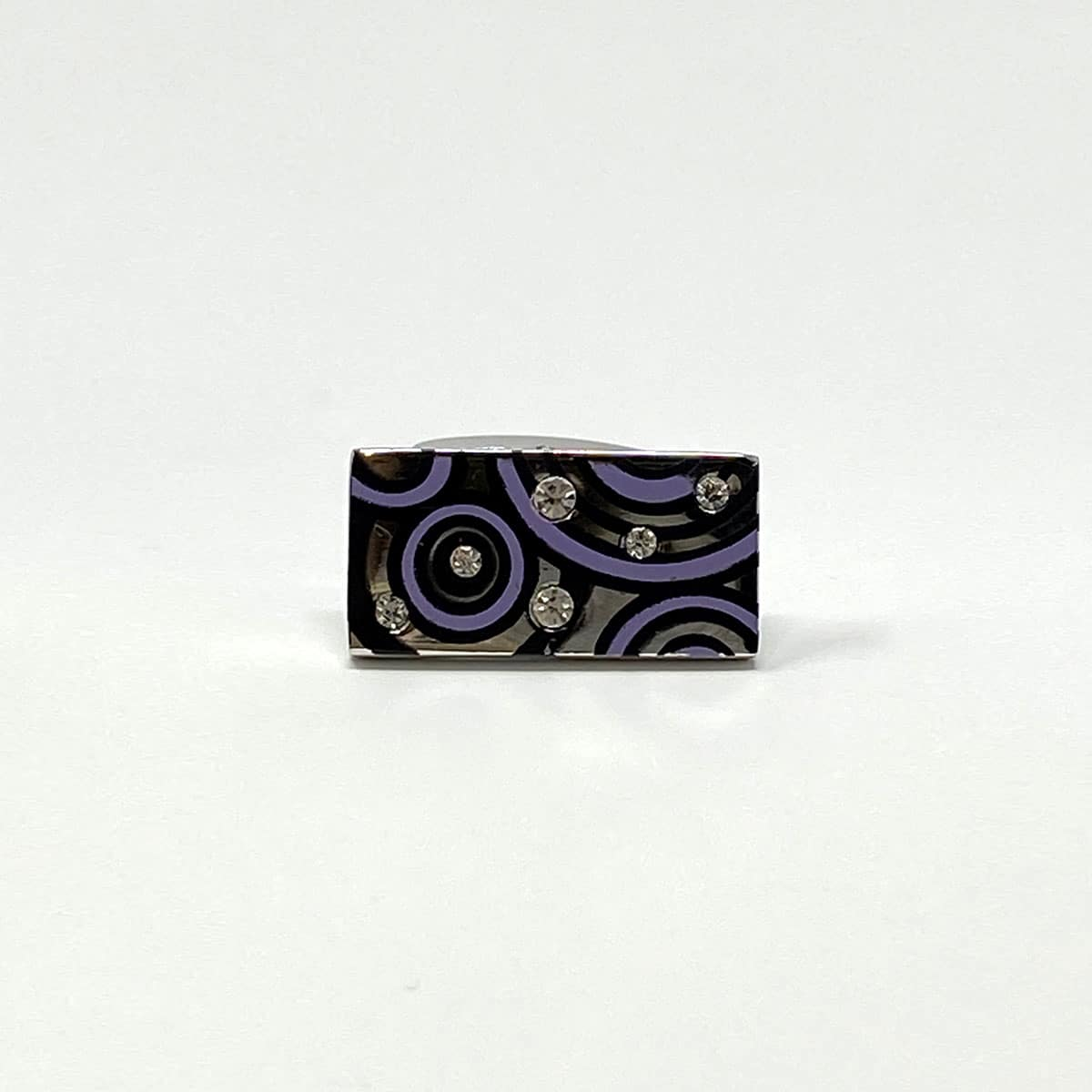 Purple Circles Cufflinks